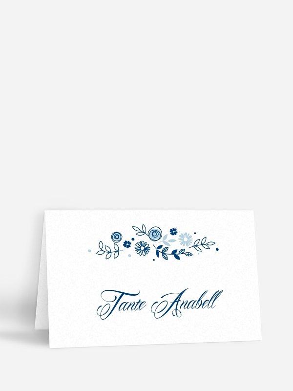 Tischkarte Hochzeit Blumen