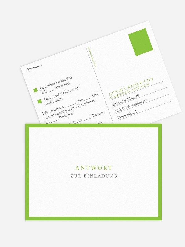 Antwortkarte Hochzeit Button