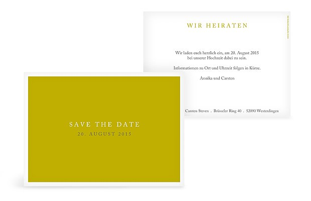 "Save-the-Date Karte ""Button"""