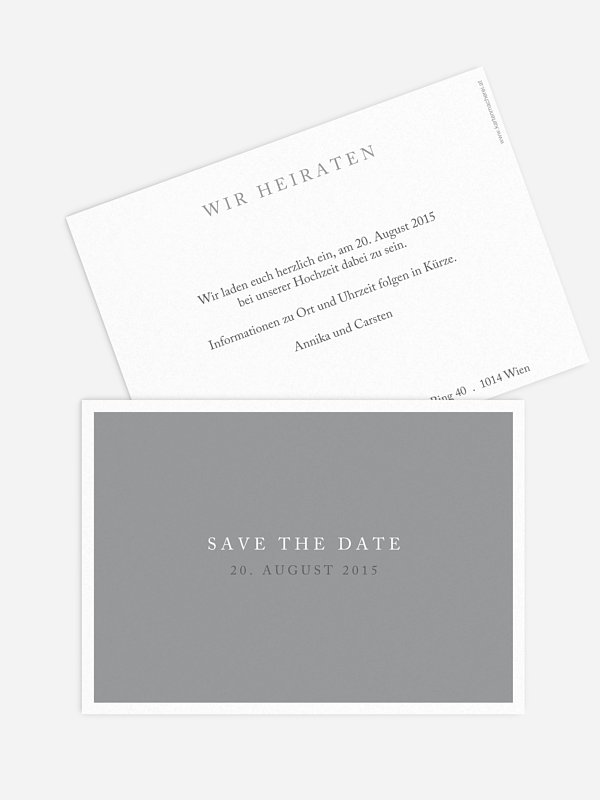 Save-the-Date Karte Button