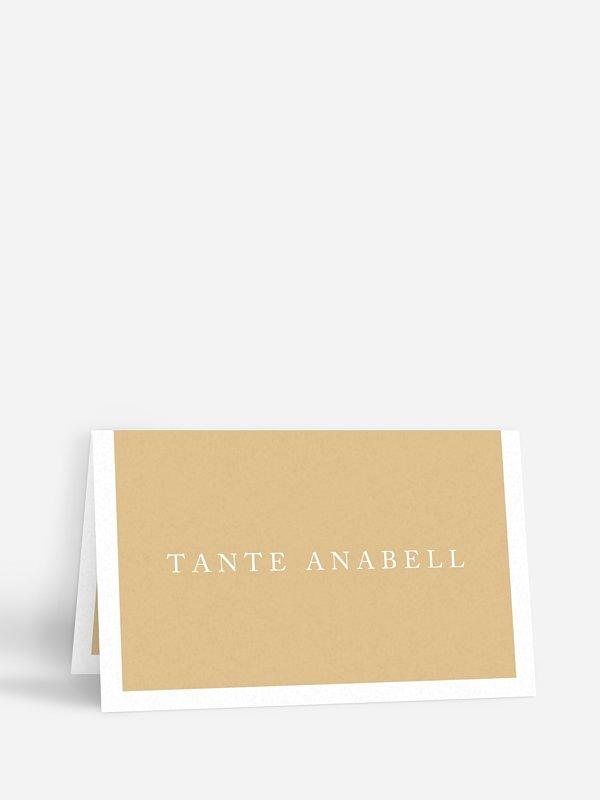Tischkarte Hochzeit Button