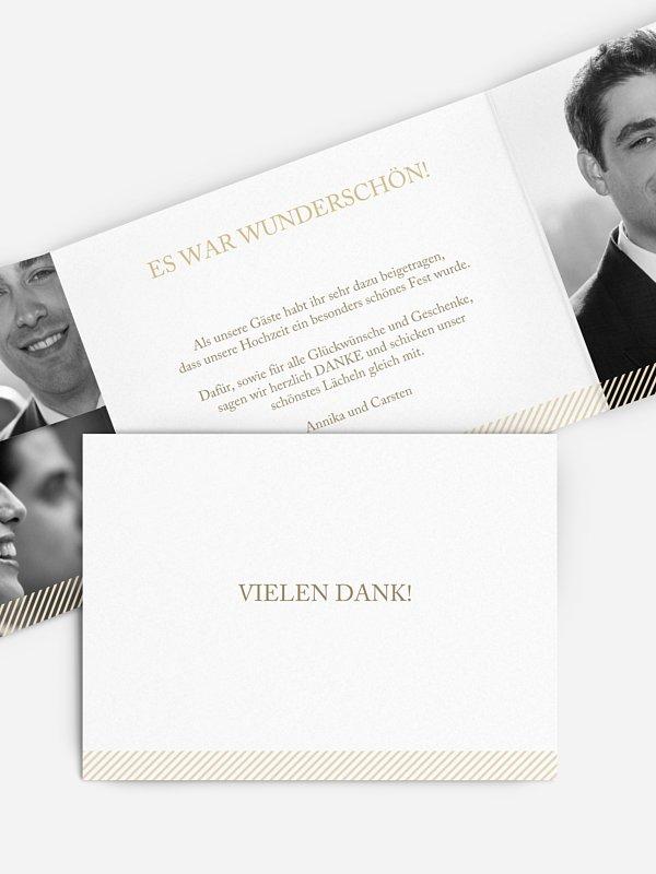 Dankeskarte Hochzeit Ampersand