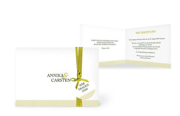 """Einladung zur Hochzeit """"Ampersand"""""""