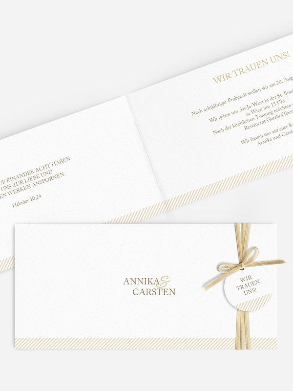 Hochzeitseinladung Ampersand