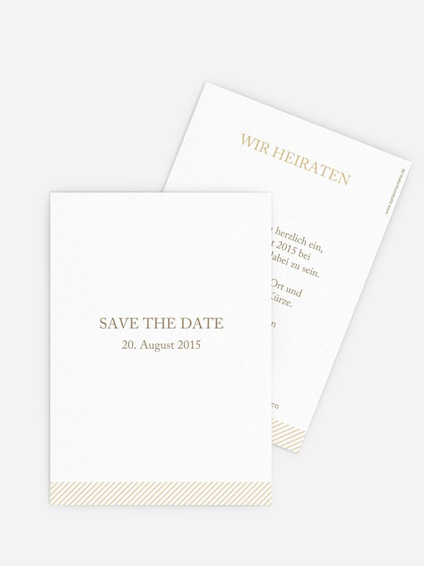 Save-the-Date Karte Ampersand