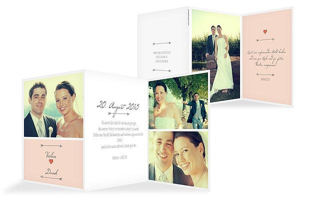 """Dankeskarte Hochzeit """"Pfeil"""""""