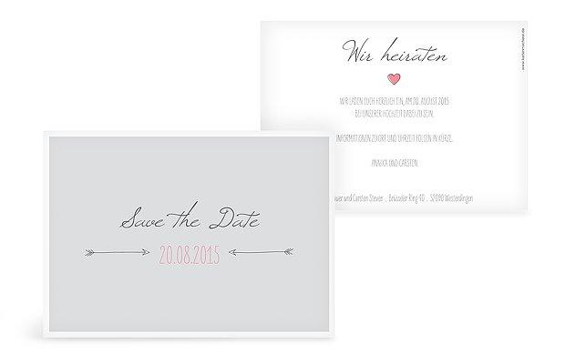 Save-the-Date Karte Pfeil