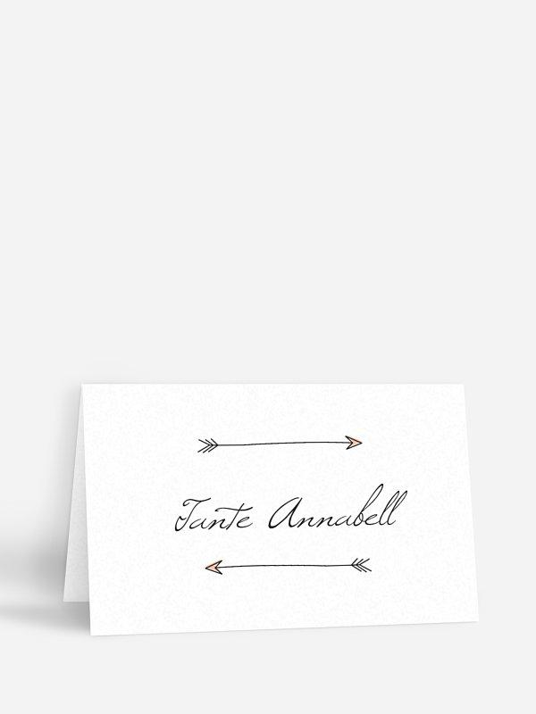 Tischkarte Hochzeit Pfeil