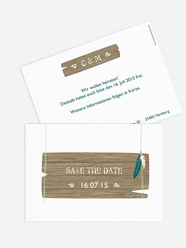 Save-the-Date Karte Spirit