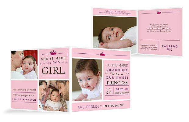 """Geburtskarte """"Little Princess"""""""