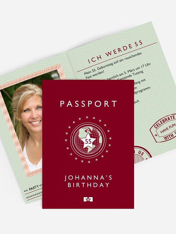 Geburtstagseinladung Passport