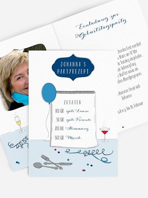 Einladung 60. Geburtstag Partyrezept