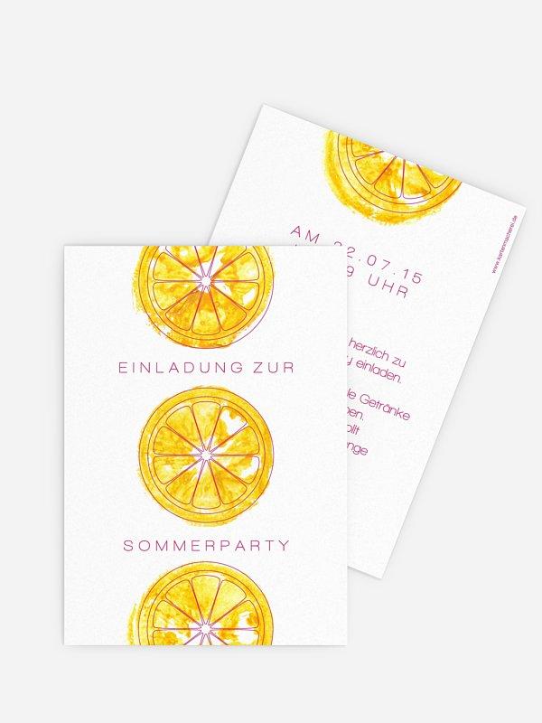 Partyeinladung Zitronen