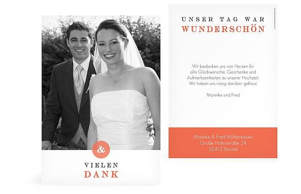 """Dankeskarte Hochzeit """"Zu Zweit"""""""