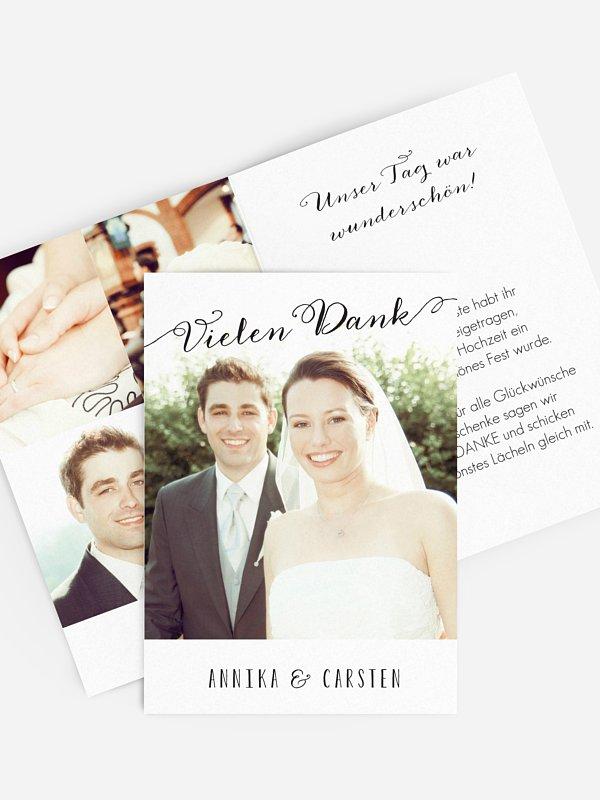 Dankeskarte Hochzeit Wortklar