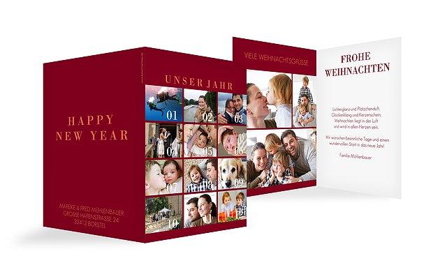 Weihnachtskarte Unser Jahr