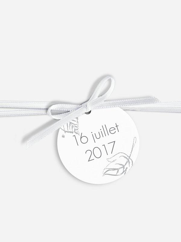 Étiquette avec ruban Pluie d'automne