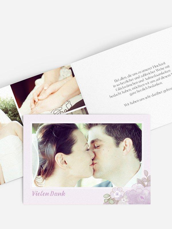 Dankeskarte Hochzeit Blütenpracht