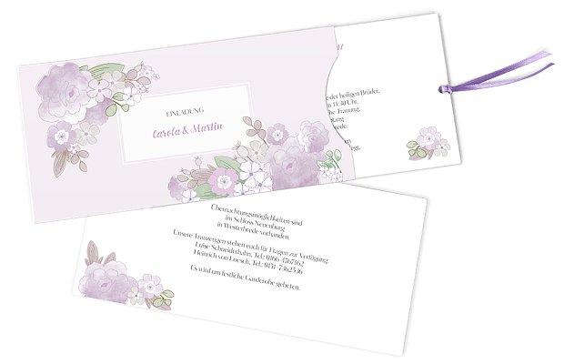 Hochzeitseinladung Blütenpracht