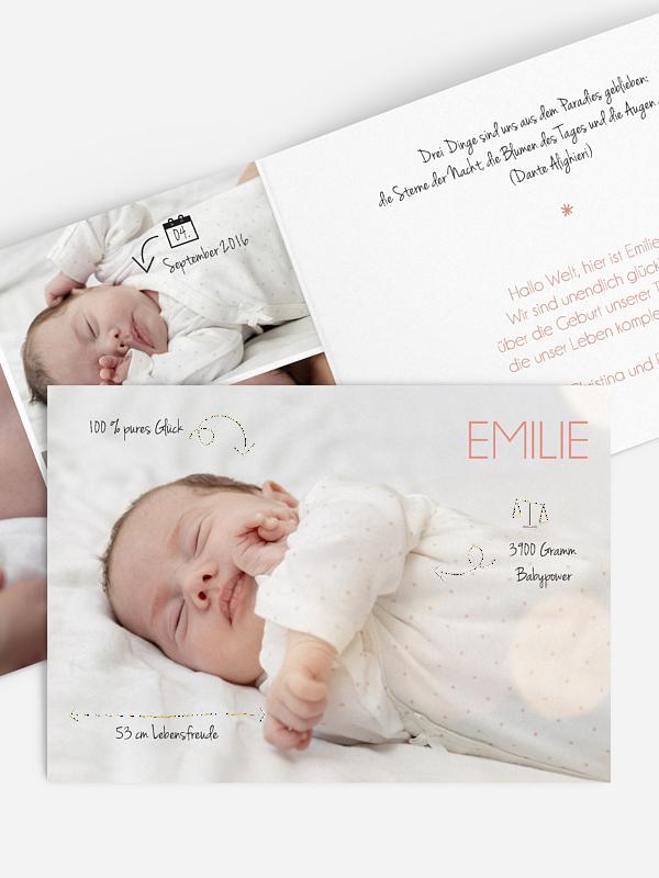 Geburtskarte Unikat