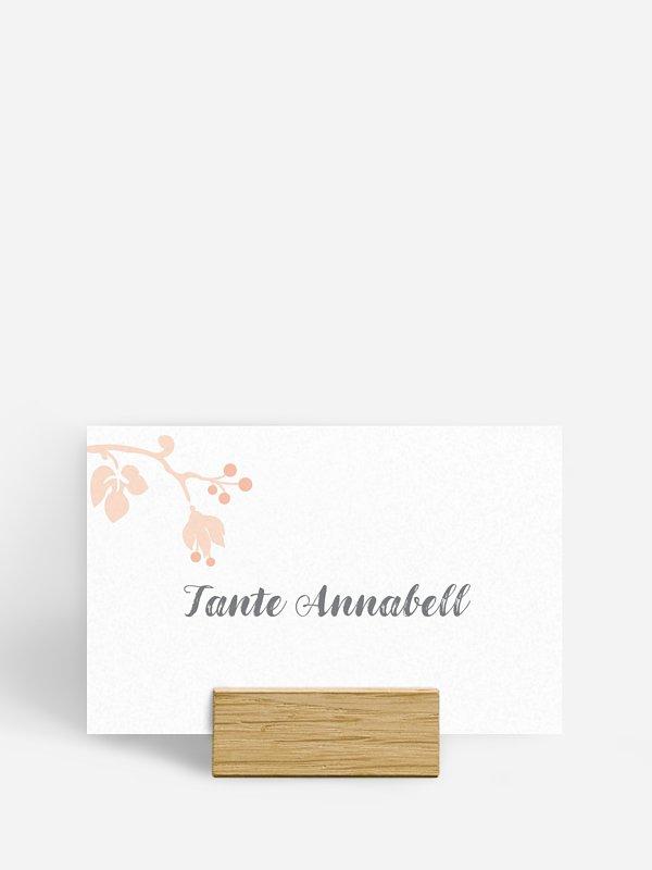 Tischkarte Hochzeit Blattzart