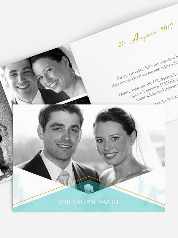 Dankeskarte Hochzeit Marble Chic