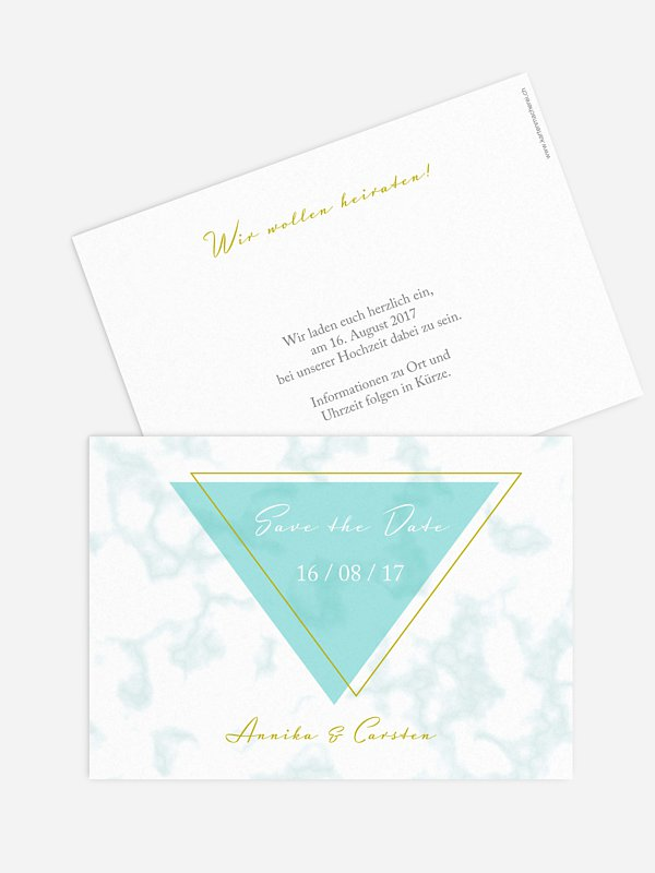 Save-the-Date Karte Marble Chic