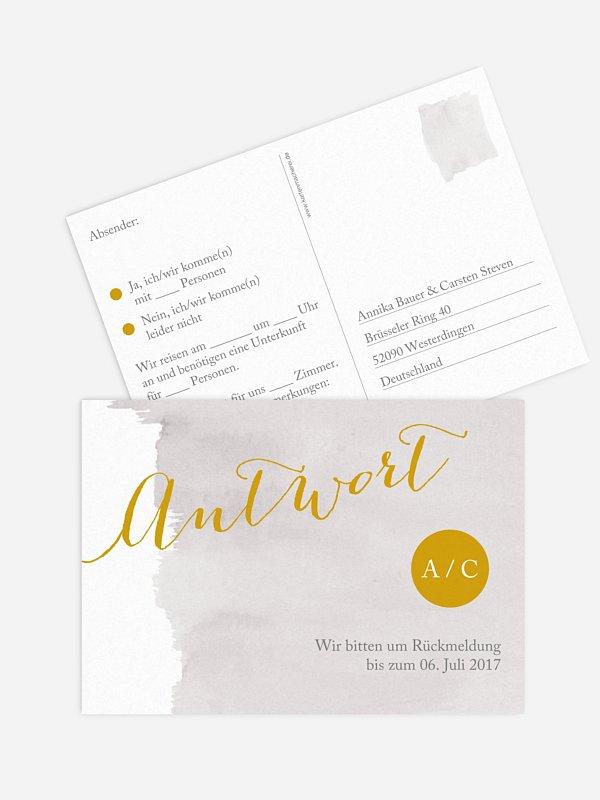 Antwortkarte Hochzeit Colour Touch