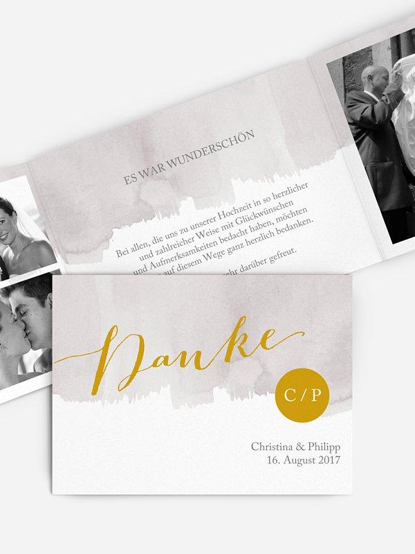 Dankeskarte Hochzeit Colour Touch
