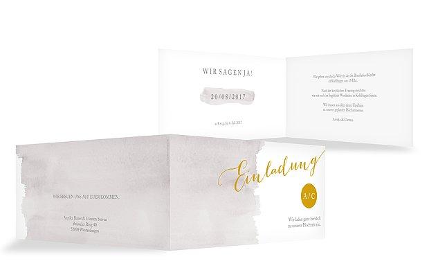 Hochzeitseinladung Colour Touch