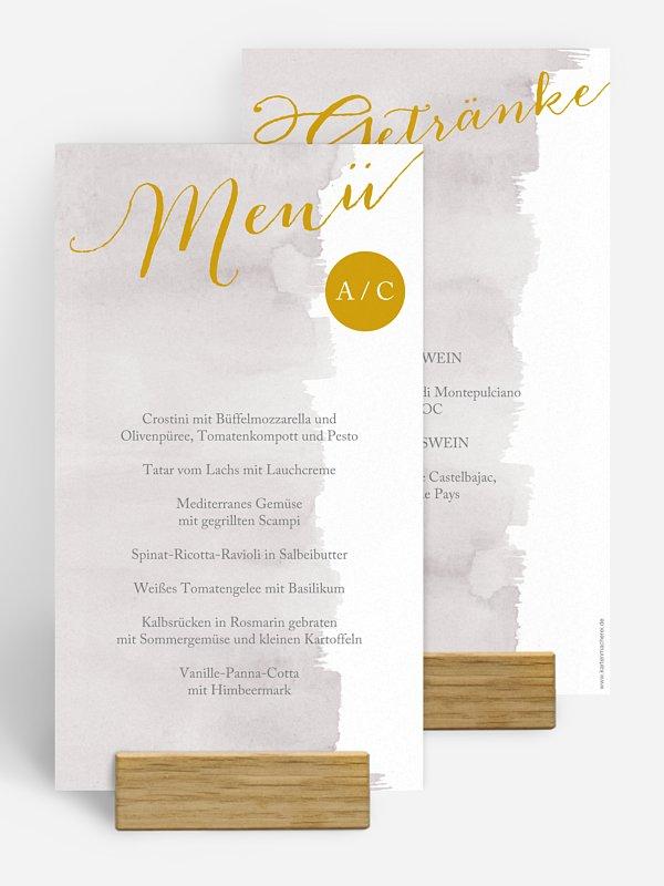 Menükarte Hochzeit Colour Touch