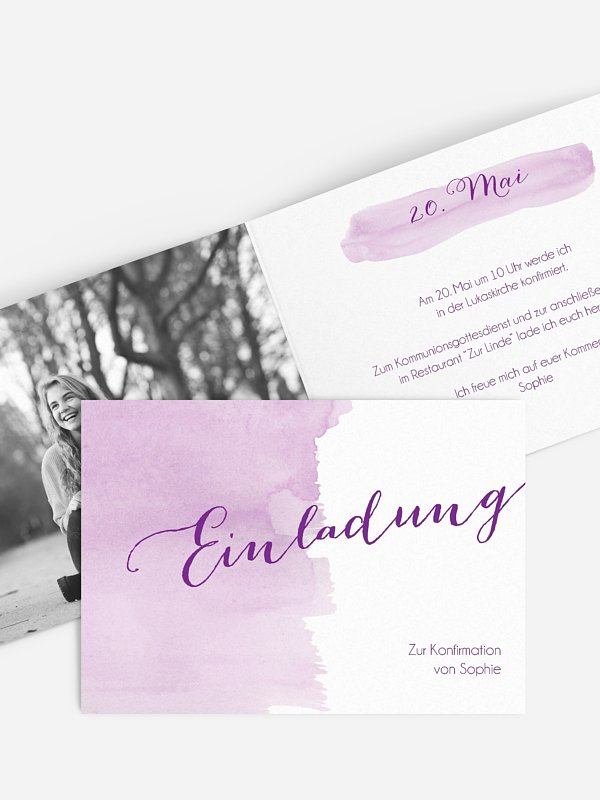 Konfirmationseinladung Colour Touch