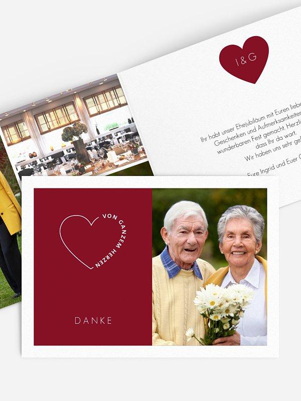 Danksagung zur Goldenen Hochzeit Herzensworte