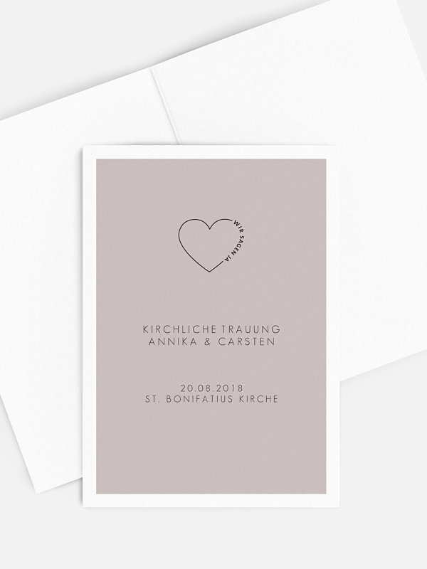 Kirchenheft Hochzeit Herzensworte