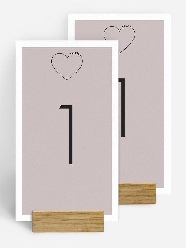 Tischnummer Herzensworte