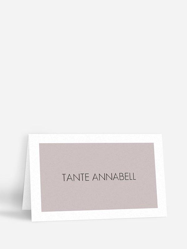 Tischkarte Hochzeit Herzensworte