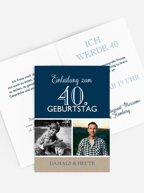 Einladung 40. Geburtstag Mixed Up
