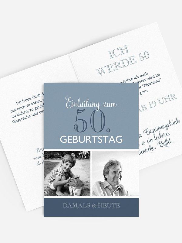 Einladung 50. Geburtstag Mixed Up