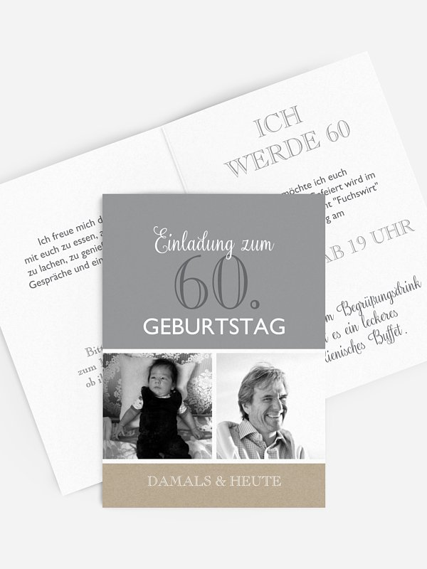Einladung 60. Geburtstag Mixed Up