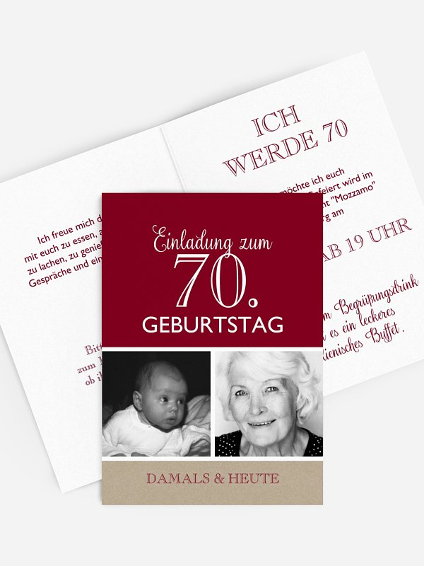 Einladung 70. Geburtstag Mixed Up