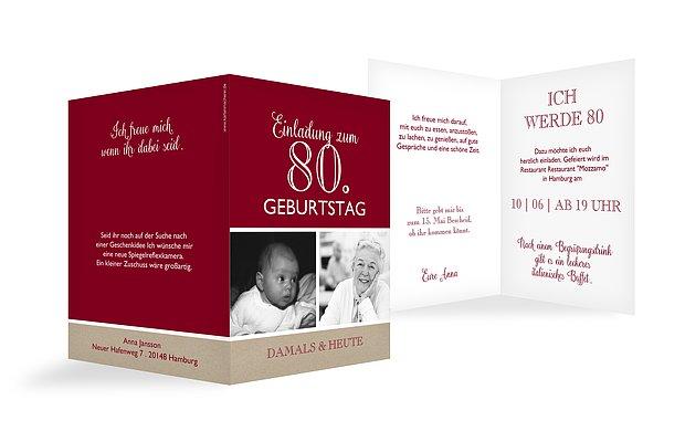 Einladungskarten 80 Geburtstag Mixed Up
