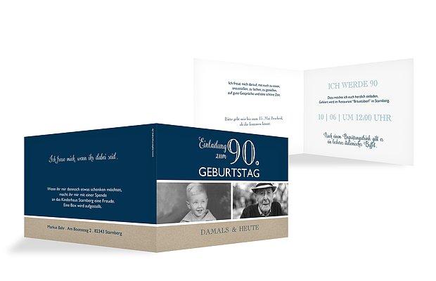 Einladung 90. Geburtstag Mixed Up
