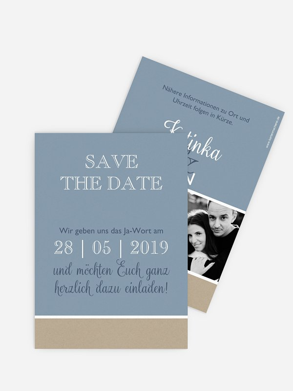 Save-the-Date Karte Mixed Up