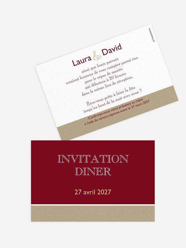 Carton d'invitation Simplicité