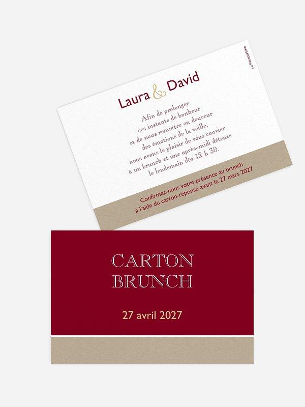 Carte brunch Simplicité
