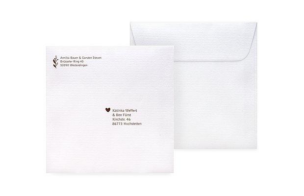 Briefumschlag Beschriften Zur Taufe : Umschläge mit adressaufdruck für hochzeitskarten
