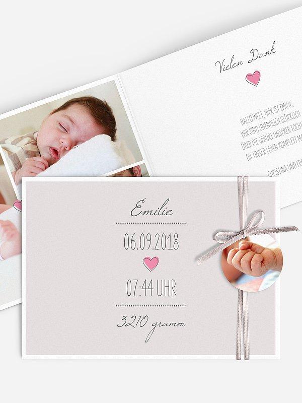 Geburtskarte Herzallerliebst