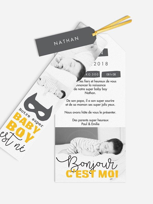 Faire-part naissance Super baby boy