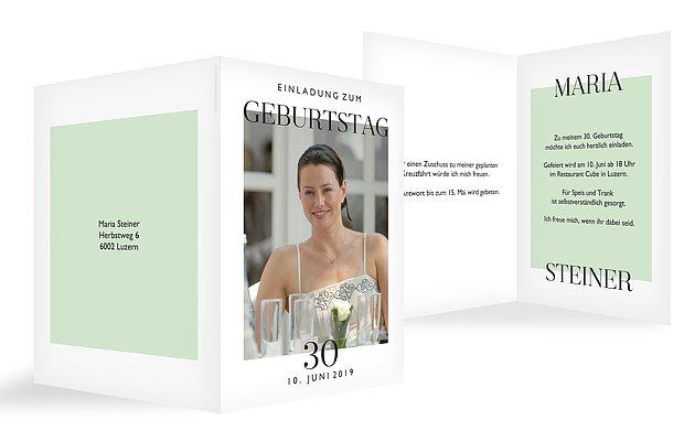 Einladung 30. Geburtstag Simplicity