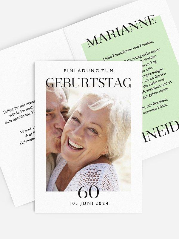 Einladung 60. Geburtstag Simplicity